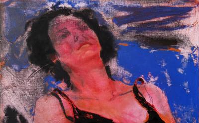 Doron Langberg, Gaby, 2015, oil on linen, 18 x 24 inches (courtesy of Danese/Cor