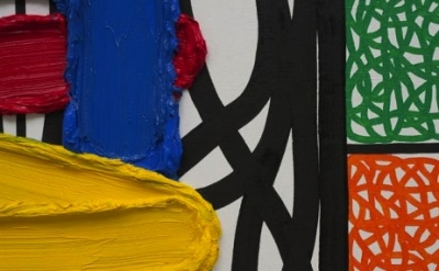 (detail) Jonathan Lasker, The Inability to Sublimate, 2009, oil on linen (courte
