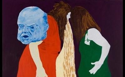 (detail) Thomas Lawson, Confrontation: Headbangers, 2010, oil on canvas, 72 x 60