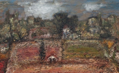 John Lees, Umbrian Landscape, 2001-2012, oil on panel, 17.75 x 23.25 inches (cou
