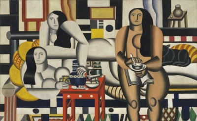 Fernand Léger, Three Women (Le Grand Déjeuner), 1921-22, oil on canvas, 6' 1/4""