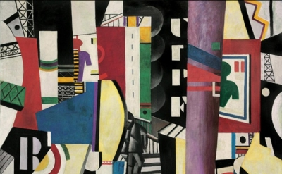 Fernand Léger, The City, 1919, oil on canvas, 7 feet 7 inches x 9 feet 9 1/2 inc
