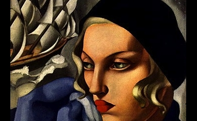 (detail) Tamara de Lempicka, L'écharpe bleue, 1930 (© Tamara Art Heritage)