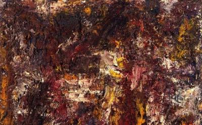 (detail) Eugène Leroy, Untitled, 1994, oil on canvas, 39 1/4 x 39 1/4 (courtesy