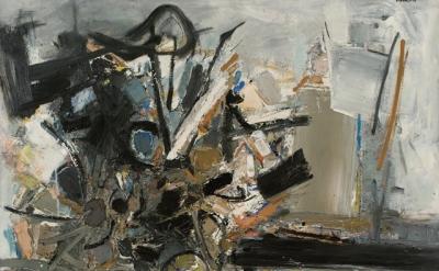 (detail) John Levee, September III, 1957 (courtesy Galerie 53)