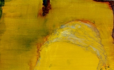 Caterina Lewis, Untitled yellow, 2012, oil on board, 51 x 40 cm (courtesy of the