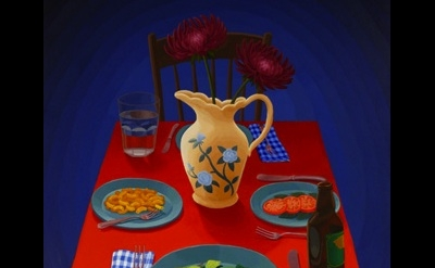 (detai) Amy Lincoln, Dinner Table, 2012, acrylic on mdf, 24.5 x 19.75 inches (co