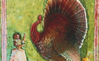 (detail) Judith Linhares, Turkey, Oil on Canvas, 1977, 72 x 68 inches