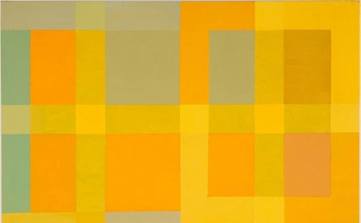 (detail) Vincent Longo, Lattice: Yellow Light 2, 2010, acrylic on wood, 20 x 16