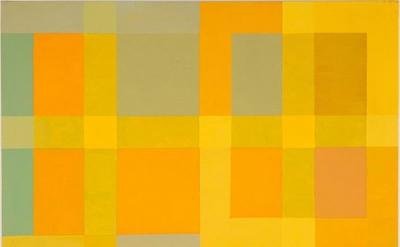 (detail) Vincent Longo, Lattice: Yellow Light 2, 2010, acrylic on wood, 20 x 16