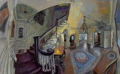 (detail) Matthew Lopas, Foyer and Staircase, 44 x 63 inches, 2009 (courtesy of t