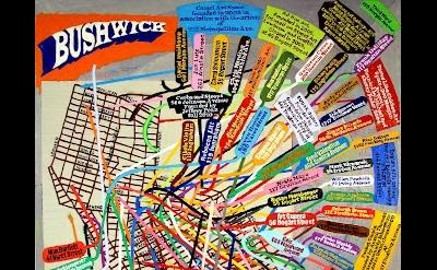 (detail) Loren Munk, Bushwick Map (study), 2010-2012, 42 x 36 inches, oil on lin