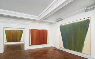 Installation view: Morris Louis, Veils at Mnuchin Gallery, New York (photo: Tom