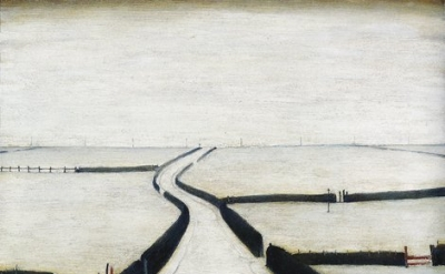 L.S. Lowry, Fylde, 1953, oil on canvas, 48.9 x 59.1 cm (©Estate of L.S. Lowry)