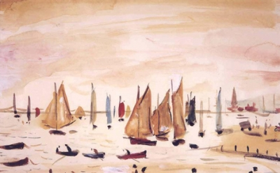 (detail) LS Lowry, Yachts, 1959 (The Lowry Collection, Salford. © The Estate of