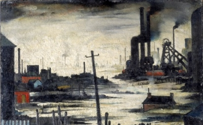L.S. Lowry, River Scene (Industrial Landscape), 1935 (© The estate of L.S. Lowry