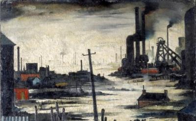 L.S. Lowry, River Scene (Industrial Landscape), 1935 (© The estate of L.S. Lowry