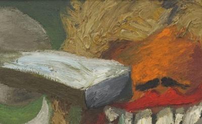 (detail) Painting by Lee Lozano at KARMA (image: Contemporary Art Daily)