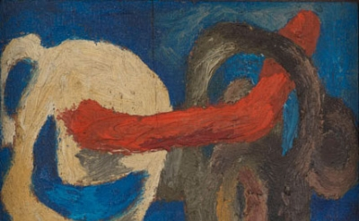 (detail) Lee Lozano, No title, c 1962. oil on board, 7 x 8.3 cm (© The Estate of Lee Lozano, courtesy the Estate and Hauser & Wirth)
