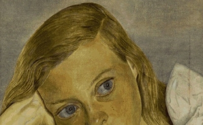(detail) Lucian Freud, Girl in Bed, 1952, oil on canvas, Private Collection (©Lu