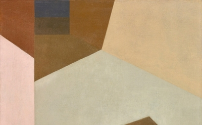 Helen Lundeberg, Sunny Corridor, 1959, oil on canvas, 20 x 24 inches (©The Feitelson / Lundeberg Art Foundation)