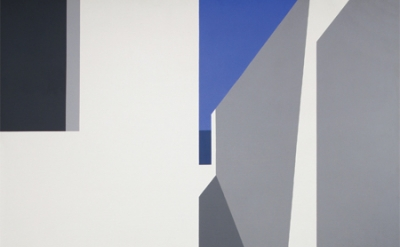 (detail) Helen Lundeberg, Aegean Light, 1973, acrylic on canvas, 60 x 60 inches