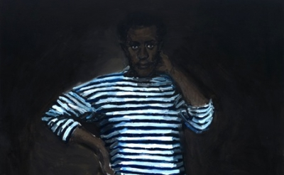 (detail) Lynette Yiadom-Boakye, 11 pm Friday, 2010, Oil on canvas, 200 x 130 cm