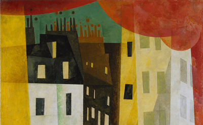 Lyonel Feininger, Architecture II The Man from Potin, 1921, detail