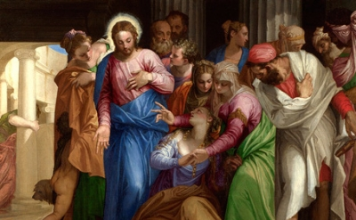 (detail) Veronese, The Conversion of Mary Magdalene, 1548, oil on canvas (© The