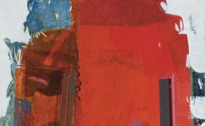 (detail) Sangram Majumdar, Unbuilt To Suit, 2013, 66 x 72 inches, oil on linen (