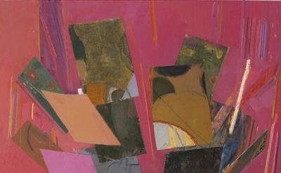 (detail) Sangram Majumdar, tilt, oil on linen, 66 x 48 inches, 2013 (courtesy of