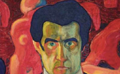 (detail) Kazimir Malevich, Self Portrait, 1908-1910 (State Tretyakov Gallery, Mo