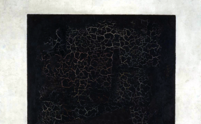 (detail) Kazimir Malevich, Black Square on a White Ground, 1915, oil on linen, 7