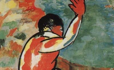 (detai) Kazimir Malevich: Bather, 1911 (Stedelijk Museum, Amsterdam)
