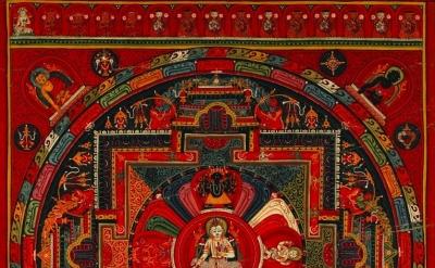 (detail) Amoghapāśa Five-deity Mandala, sixteenth century, Nepal, © Rubin Museum