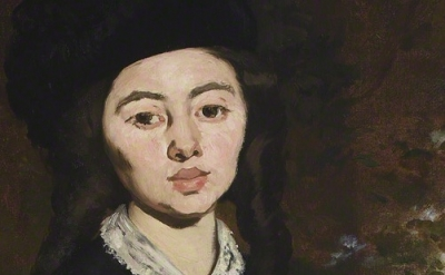 (detail) Édouard Manet, Portrait of Madame Brunet, 1860–63, reworked by 1867, Oi