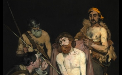 (detail) Edouard Manet, Jesus Mocked by the Soldiers, 1864–65, oil on canvas, 75
