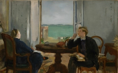 Édouard Manet, Interior at Arcachon, 1871, oil on canvas, 39.4 x 53.7 cm (Sterli