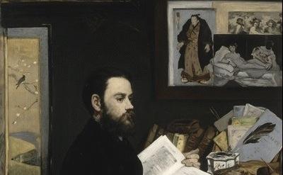 (detail) Edouard Manet (1832-1883) Emile Zola, 1868 Musée d'Orsay © RMN (Musée d