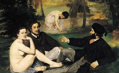 (detai) Eugène Manet, Le Déjeuner sur l'herbe, 1862–1863 (Musée d'Orsay)