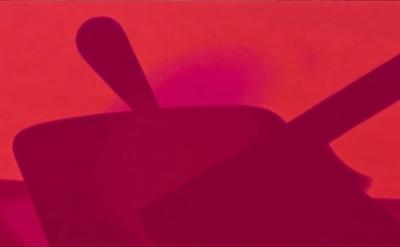 (detail) Joshua Marsh, Dustpan, 2013, oil on panel, 11 x 19 inches (courtesy of