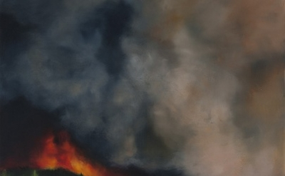 (detail) Karen Marston, Firestorm, 2012 Oil on Linen, 54 x 44 inches (courtesy o