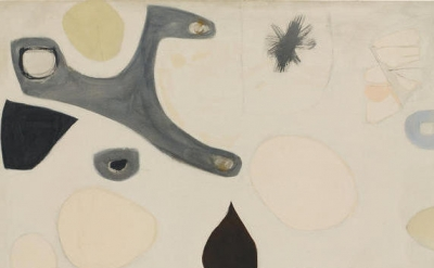 (detail) Agnes Martin, Untitled, mid-1950s (Agnes Martin, Artists Rights Society