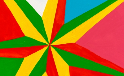 (detail) Chris Martin, 7 Pointed Star #2, 2013  (courtesy of David Kordansky Gal