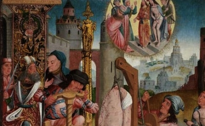 (detail) Master of the Holy Kinship, Cologne The Torture of the Maccabean Brothe