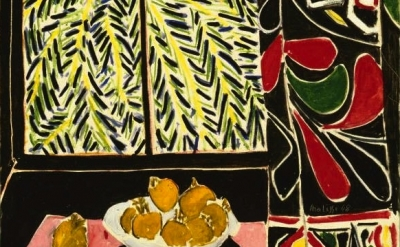(detail) Henri Matisse, Interior with Egyptian Curtain, 1948, oil on canvas, 45