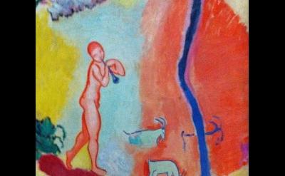 (detail) Henri Matisse, Le Bonheur de vivre, 1905-1906, oil on canvas, 69 1/2 x
