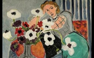 (detail) Henri Matisse, L'Odalisque, Harmonie Bleue, 1937