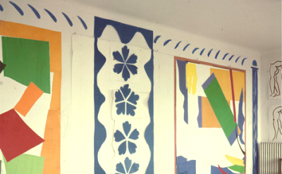 Matisse: Studio view with The Snail (1953), Memories of Oceania (1953), Large Co