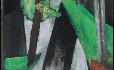 (detail) Henri Matisse, Shaft of Sunlight, the Woods of Trivaux, 1917, oil on ca